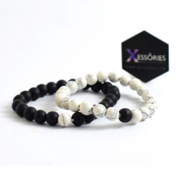 Distance Bracelets Black and white