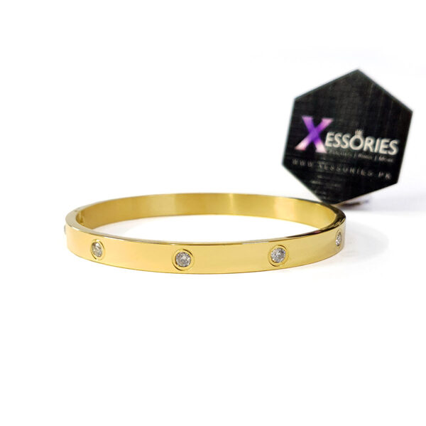cartier style love bracelet starry bangle bracelet in gold and rose gold color by xessories shop online in pakistan