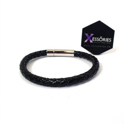 black braided leather bracelet in pakistan shop online from xessories.