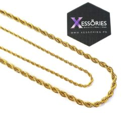 shop online gold rope chain in pakistan with xessories in stainless steel