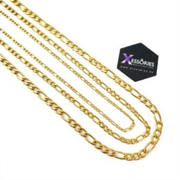 golden figaro chain in stainless steel in pakistan shop online xessories.pk