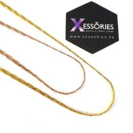 flat rope chain in pakistan by xessories in gold color