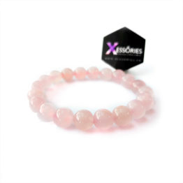 pink treasure 10mm stone bead bracelets glossy shop online in pakistan at xessories