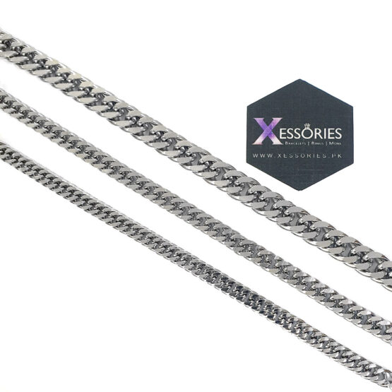 double curb stainless steel bracelet shop online in pakistan at xessories