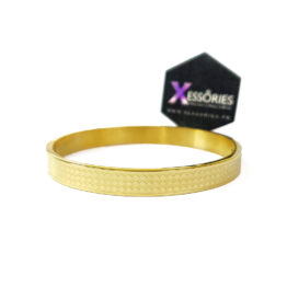 the chequered men bracelet by xessories in golden color stainless steel shop online in pakistan
