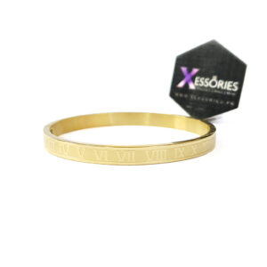 the roman bangle women in golden color stainless steel by xessories shop online in pakistan