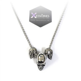 triple threat skull necklace stainless steel shop onlin ein pakistan by xessories