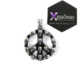 Peace Out Pendant in Pakistan shop online in stainless steel by xessories xessories.pk