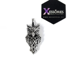 shop online wise owl pendant in pakistan in stainless steel by xessories pakistan online