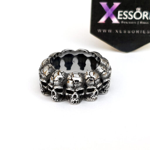 Band Of Skulls Ring in Pakistan by xessories.pk in stainless steel