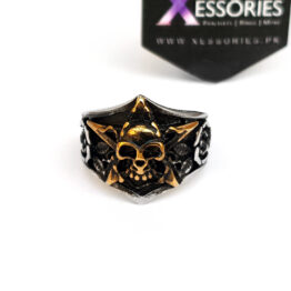 Skull Marshal Ring in Pakistan by xessories.pk in stainless steel