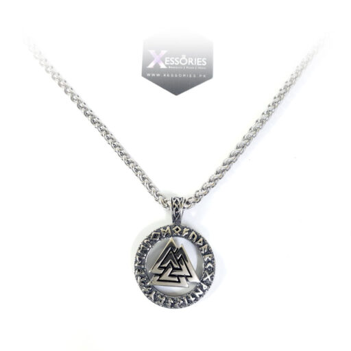 Viking coin pendant with 5mm wheat chain bundle shop online in pakistan