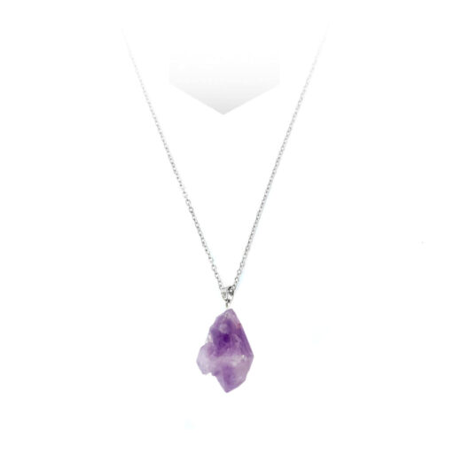 Raw Amethyst Crystal Necklace - Xessories shop online in pakistan from lahore karachi islamabad